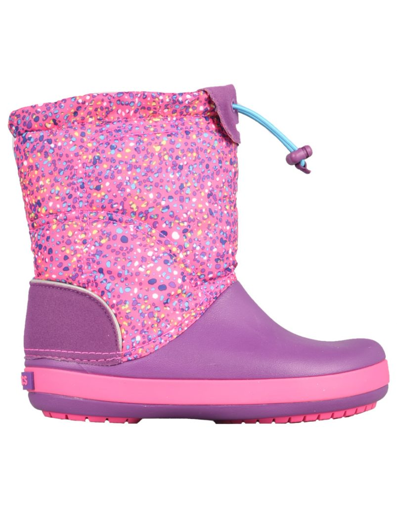 Snow Boots CROCS Crocband Lodgepoint Graphic K 204829 Neon MagentaAmethyst